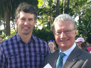 Harold and the Queensland Governor, His Excellency the Honourable Paul de Jersey AC