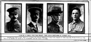 Four Logan brothers at Gallipoli all with the 2nd Australian Light Horse