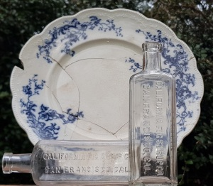 1893 W.H. Grindley Co plate - c1910 Califig bottles
