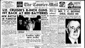 Courier-Mail front page - Friday 22 April 1949 (2)