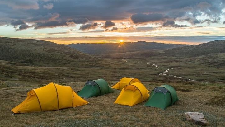 Camping on the Ten Peaks Hike - Mike Edmondson