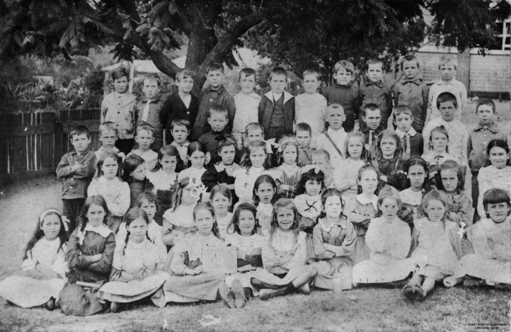 portrait of school children from the bowen bridge road state school windsor brisbane c1910 - john oxley library state library of queensland 145930
