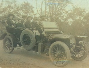 Obadiah Watsons 1906 Hotchkiss with the hood down on theroad to Mandalay in 1914