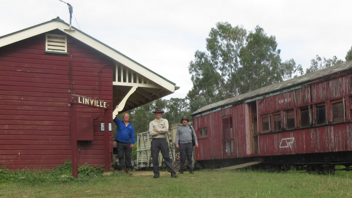 First train at Linville 2019 - wide