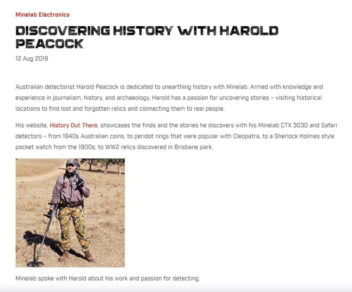 Discovering History with Harold Peacock