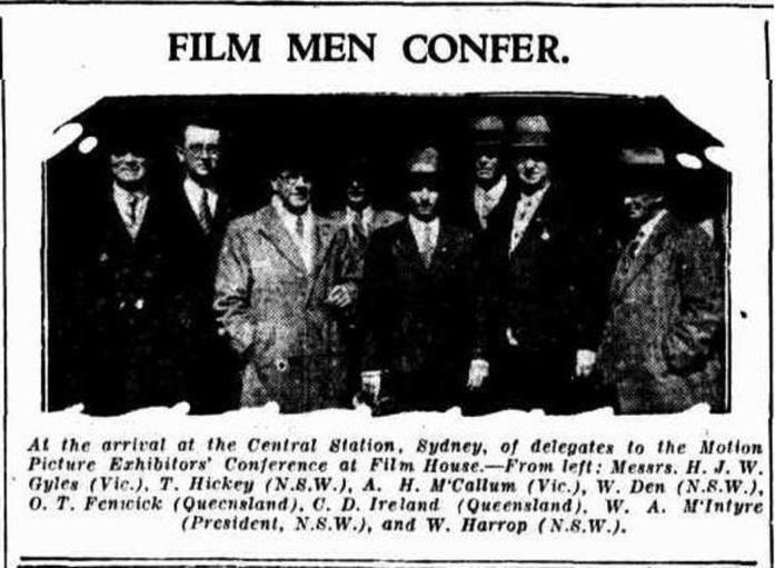 Motion picture pionerr Charles David Ireland - Daily Standard Brisbane Thu 31 Aug 1933 p5