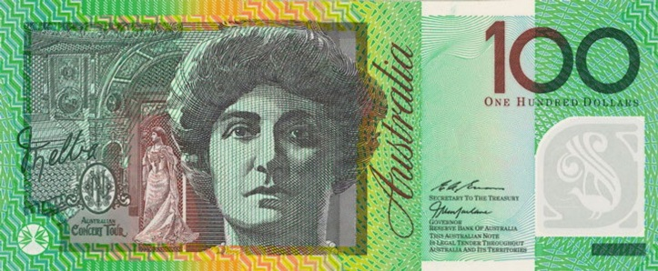 Dame Nellie Melba 100 dollar note