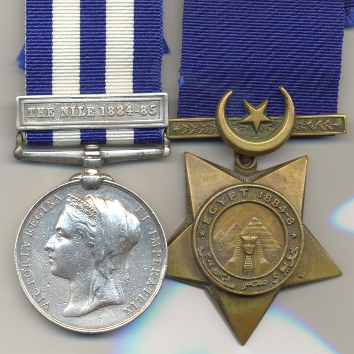 Egypt medal with Nile clasp Bronze star