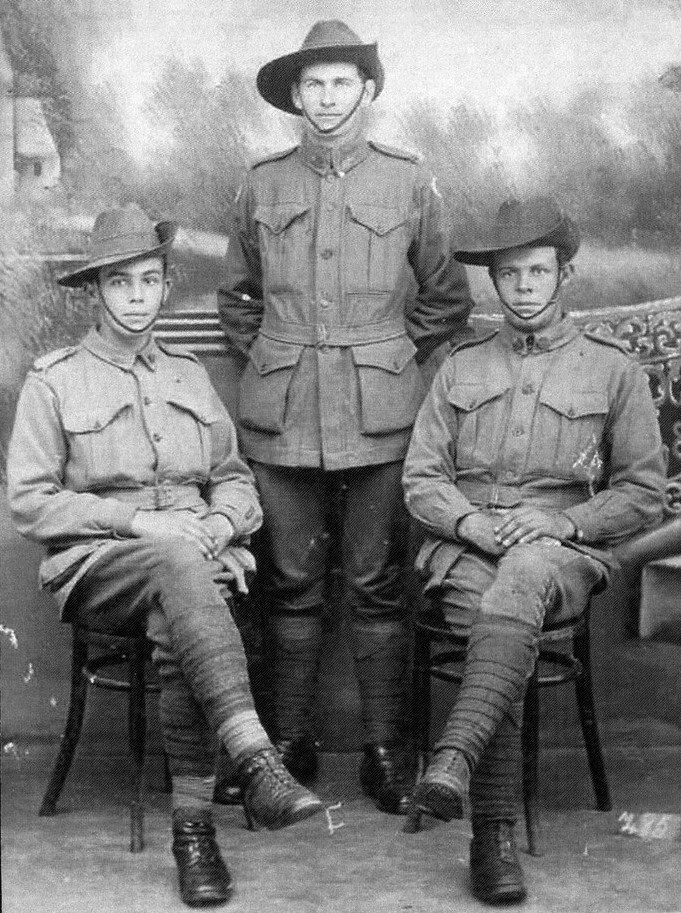 Ronald Archie and Duncan McDonald of Wyrallah c1916 - photo courtesy of family - The Western Front Association - Flickr