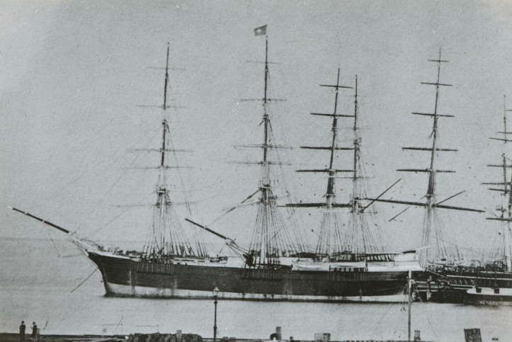 wooden ship Colonial Empire 1270 tons at Geelong built 1861 - SLSA PRG-1373-3-29