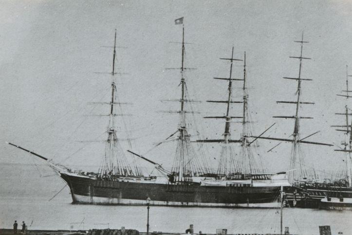 wooden ship Colonial Empire 1270 tons at Geelong built 1861 - SLSA PRG-1373-3-29