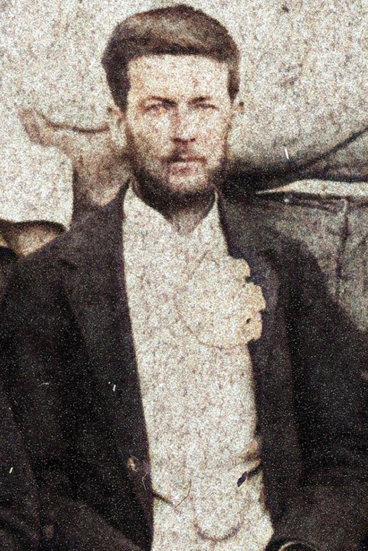 John Isaac Caldwell age 36 - from Staff of James Campbell and Sons Brisbane 1892 John Oxley Library State Library of Queensland 2-Colorized
