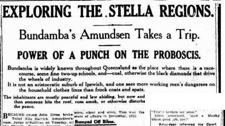 Amundsen 1926 Bundamba headlines - Truth Sun 7 Mar 1926 p11 (2)